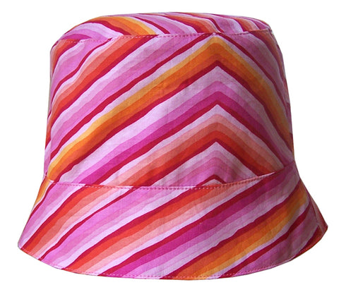 Zigzag Flowers Reversible Summer Hat