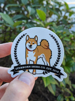 Limited Stubborn Shiba Co Logo Sticker