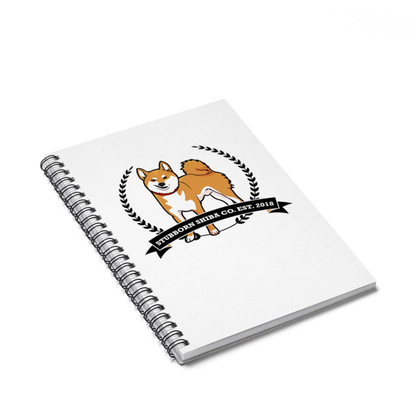 Stubborn Red Shiba - Spiral Notebook - Ruled Line - Stubborn Shiba Co