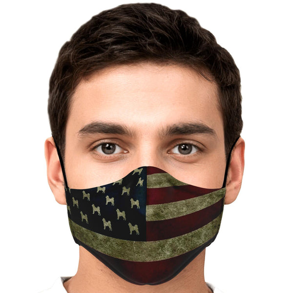 Rustic USA Shiba Face Mask! (Non medical with PM 2.5 Filter)