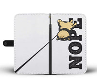 Black and Tan - NOPE Wallet Case - Stubborn Shiba Co
