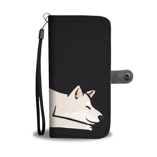 Playful Cream Shiba - Wallet Case