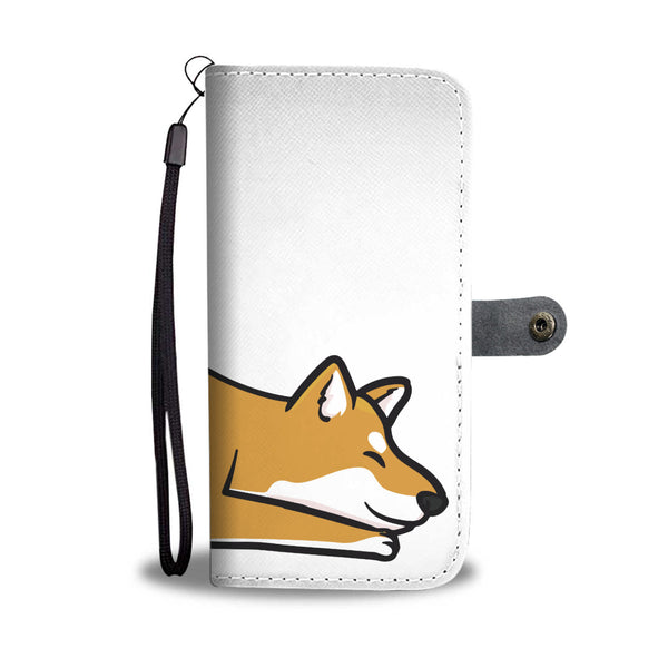 Playful Red Shiba - Wallet Case