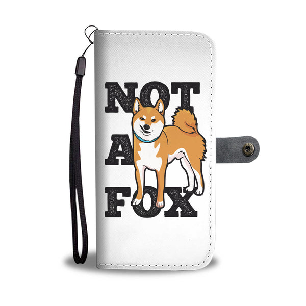 Not a Fox - Red Shiba Wallet Phone Case