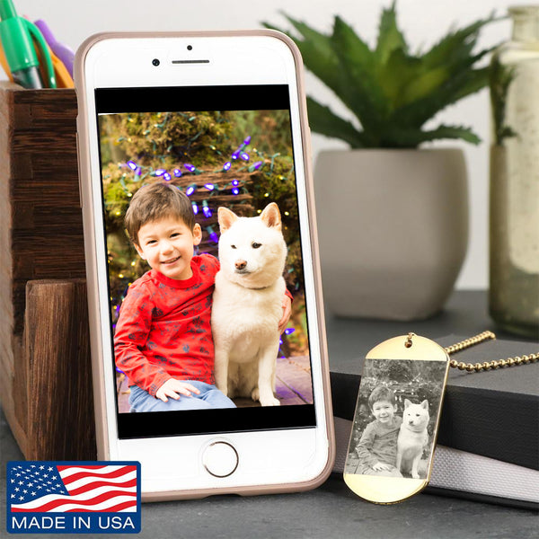 Custom Laser Engraved Photo Dog Tag! - Stubborn Shiba Co