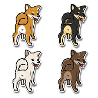 Cute Butt Stubborn - Die Cut Stickers - Stubborn Shiba Co