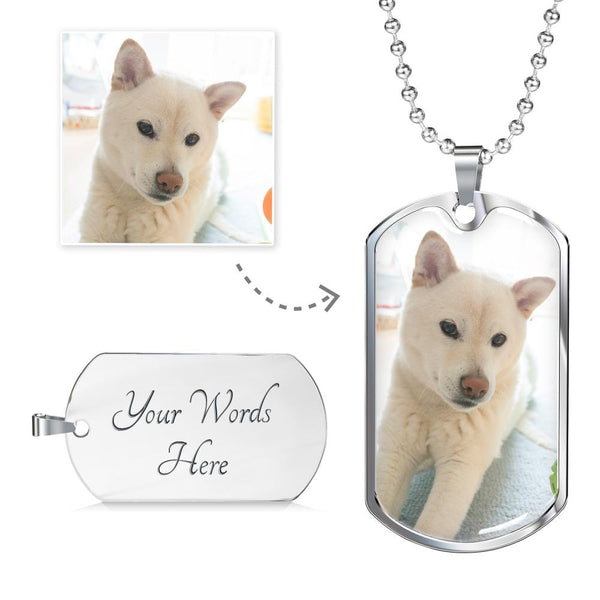 Customized Dog Tag - Stubborn Shiba Co