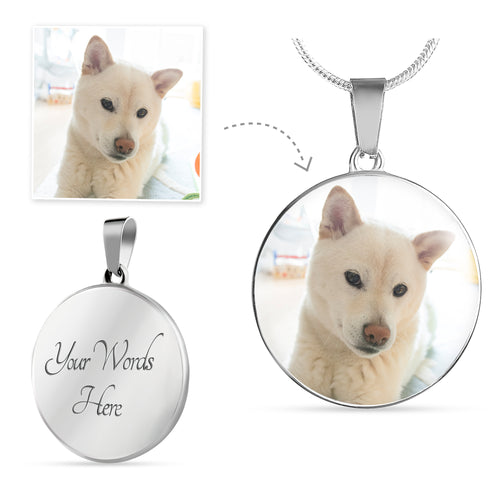 Customized Circular Pendant - Stubborn Shiba Co