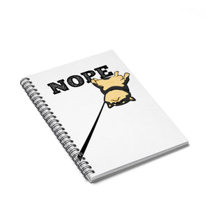 Nope Black and Tan Shiba - Spiral Notebook - Ruled Line - Stubborn Shiba Co