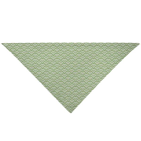 Japanese Bandana - Green Waves - Style 006