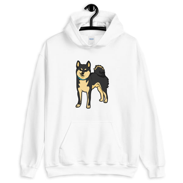 Shiba Inu Shirt - Black and Tan Hooded Sweatshirt