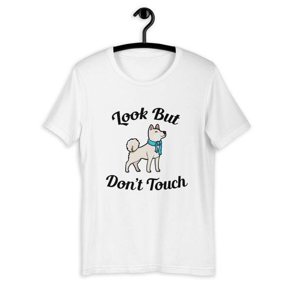 Look But Don't Touch - Cream Shiba - Short-Sleeve Unisex T-Shirt