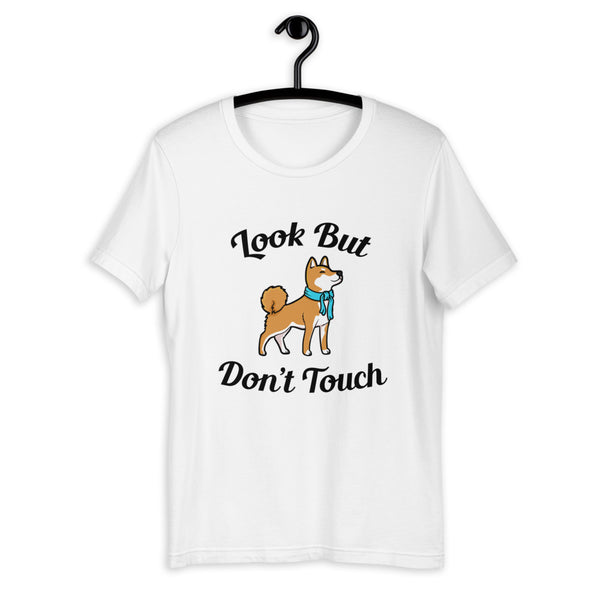 Look But Don't Touch - Red Shiba - Short-Sleeve Unisex T-Shirt