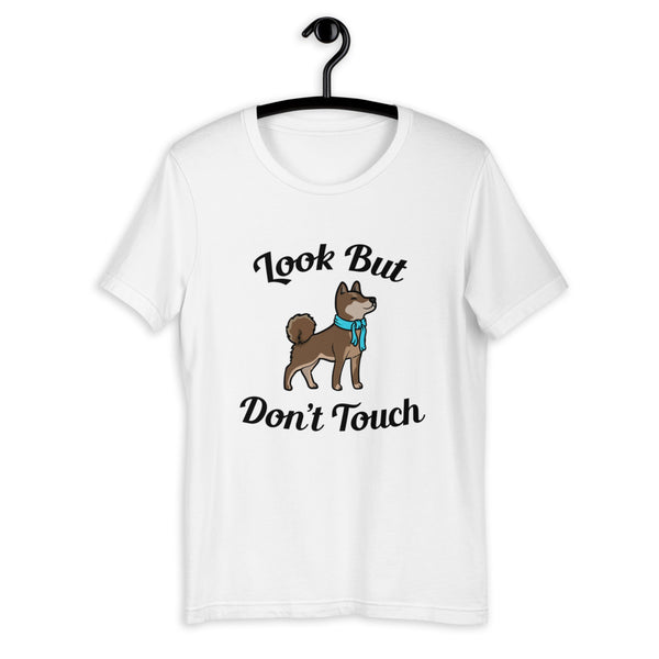 Look But Don't Touch - Sesame Shiba - Short-Sleeve Unisex T-Shirt
