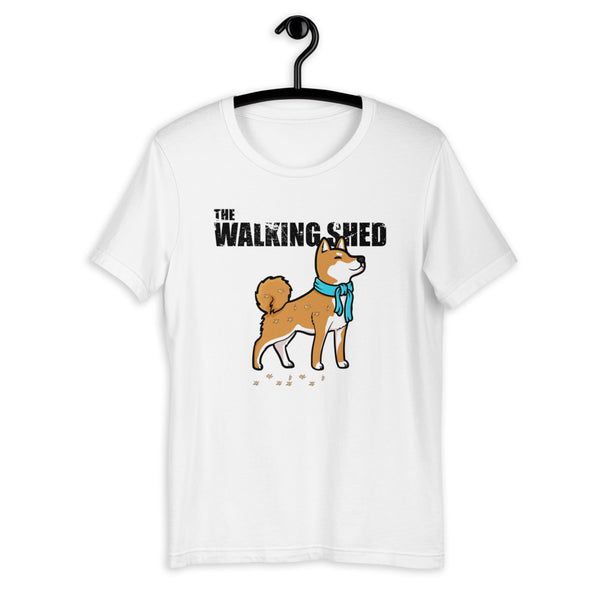 The Walking Shed - Red Shiba - Short-Sleeve Unisex T-Shirt