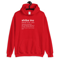 Shiba Inu Definition - Hooded Sweatshirt