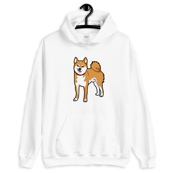 Red Shiba Hooded Sweatshirt