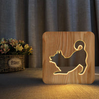 Playful Shiba Inu Decorative Table Lamp / Nightlight