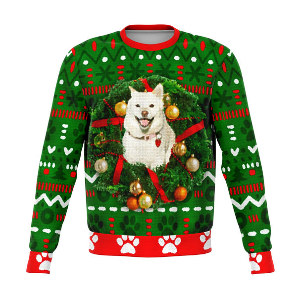Custom Ugly Christmas Sweater!  Upload your Shiba!