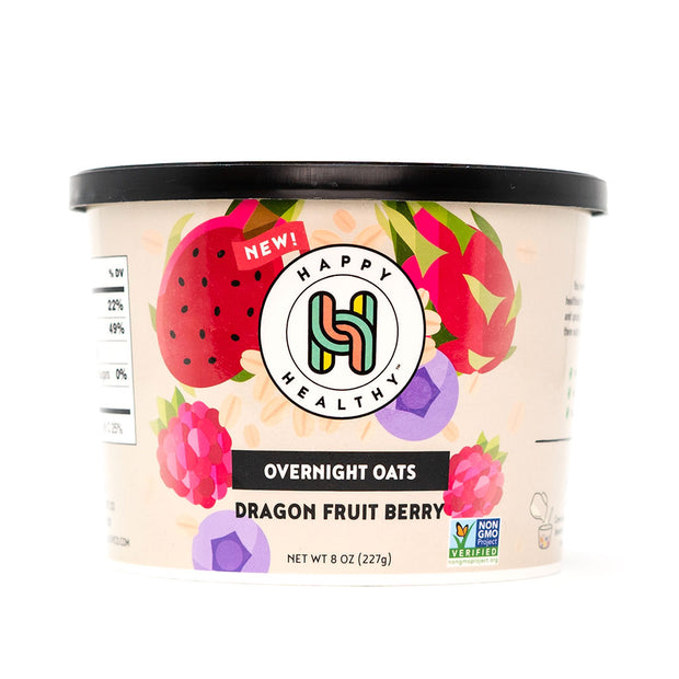 Dragon Fruit Berry Overnight Oats