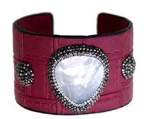 Load image into Gallery viewer, 'Truly' Cuff-Burgundy