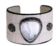 Load image into Gallery viewer, 'Truly' Cuff- White