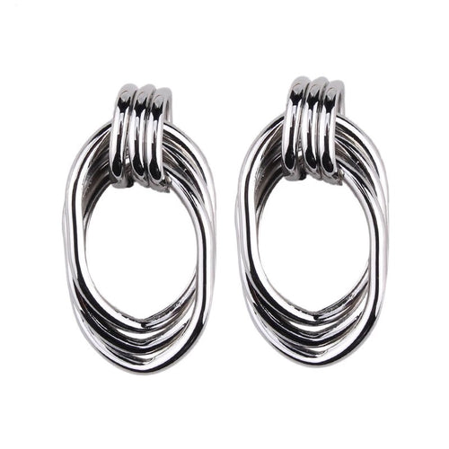 'Sandra' Earrings (Silver)