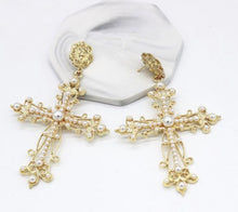Load image into Gallery viewer, 'Pearlfection' Cross Dangles