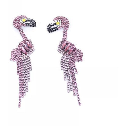 'Faith' Flamingo Dangles