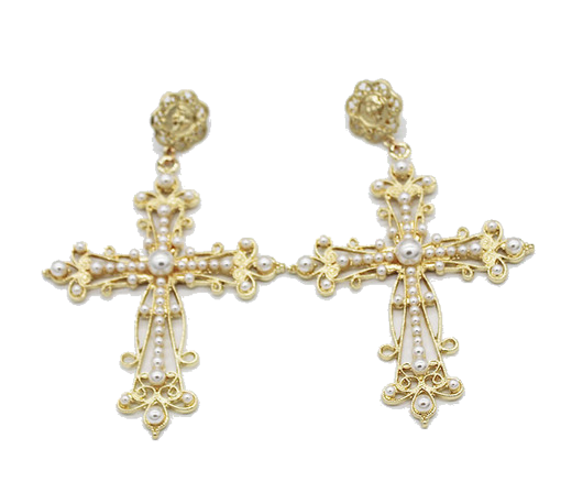 'Pearlfection' Cross Dangles