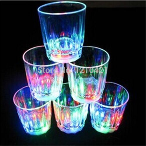 24pcs/lot Free shipping New Small LED shot glass flashing shot glasses luminous cup birthday party Halloween Chirstmas gift