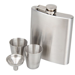 Portable Stainless Steel Pocket Flask - Barware Club