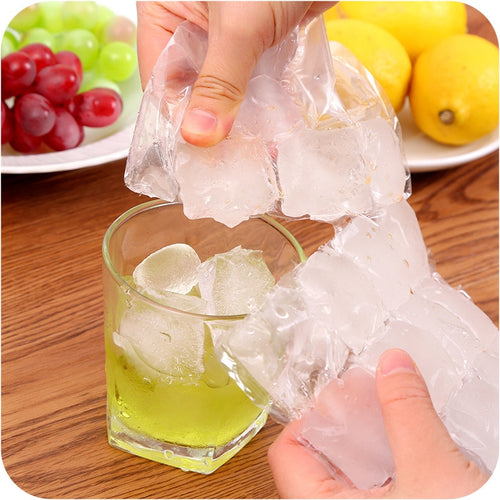 100 Pcs Disposable Ice-making Bags Ice Cube Tray Mold Makes Shot Glasses Ice Mould Novelty Gifts Ice Maker Bar Drinking HK150