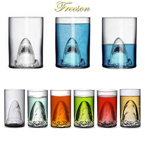 Creative Surprising Shark Double Wall Glass Cup 350ml Beer Glasses Bar Champagne Drinking Vessel Vodka Whiskey Shot Glass Mug