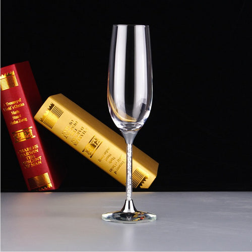 2 Pieces Set Goblet Champagne Flute Glass Crystal White Wine Glasses For Vodka Cups Sparkling Stemware Shot Glass cup