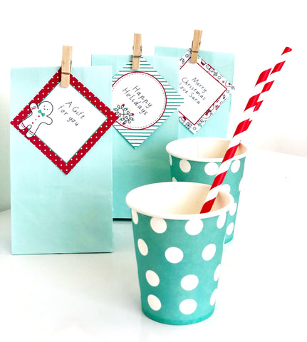 Christmas Printable Gift Tags with cute graphics | Emma Smith Event Stationery
