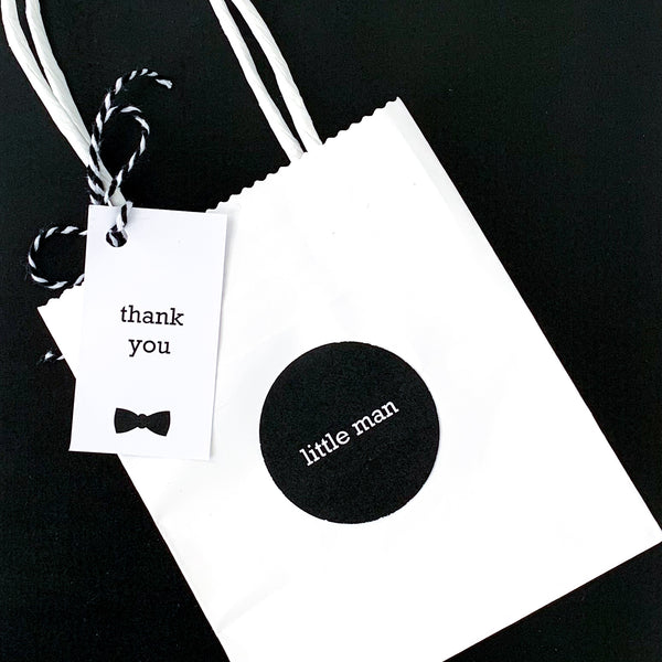 Little Man Treat Bags with Printables | Emma Smith Stationery