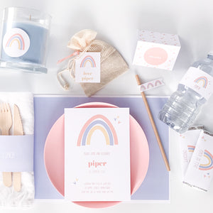 Rainbow Printable Party Download | Emma Smith Event Stationery
