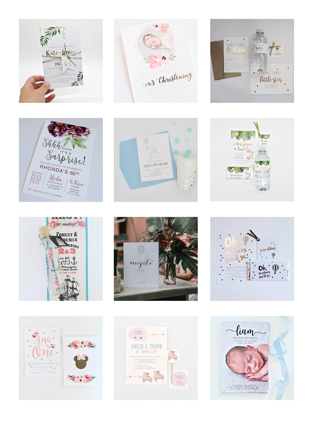 Emma Smith Event Stationery Custom Gallery