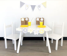 Yellow Daisy Party Decorations Printable Download Triangle Bunting Set up