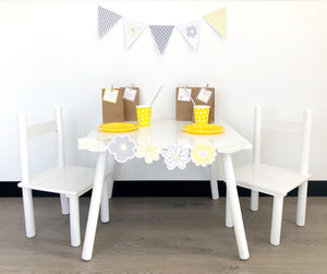 Yellow Daisy Party Decorations Printable Set Up