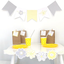 Yellow Daisy Party Decoration Printable Download Flag Bunting