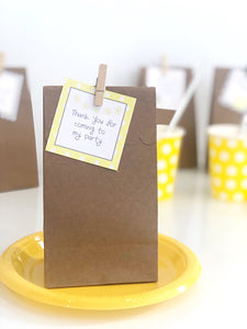 Yellow Daisy Party Decoration Printable Download Treat Bag Labels