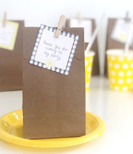 Yellow Daisy Party Decorations Treat Bag Tag Printable Download