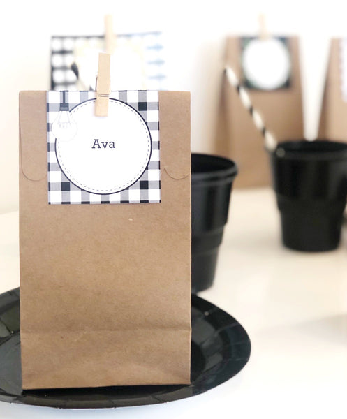 Farmhouse Theme Printable Download Party Decorations Treat Bags