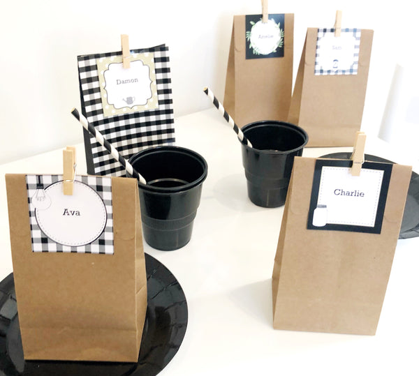 Farmhouse Theme Party Printable Download Treat Bags