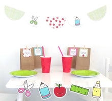 Bright Printable Party Decorations Download Set Up with Scallop Bunting