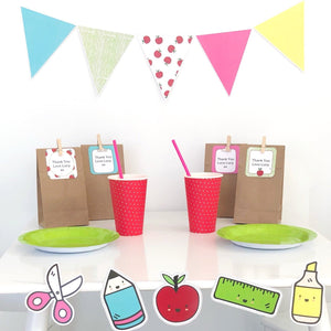 Bright Printable Party Decorations Download With Triangle Bunting Flags