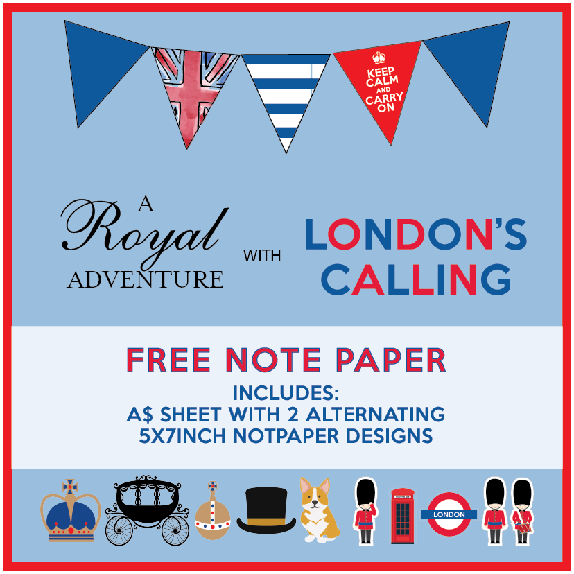 Royal London Note paper Free Printable