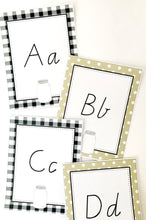 Farmhouse Theme Classroom Decor Printable Download Alphabet Cards